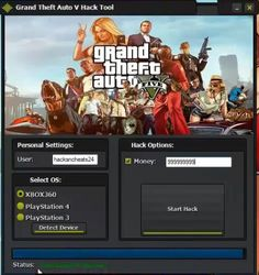 GRAND THEFT AUTO V HACK TOOL MONEY | Hack with App