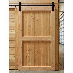 Barn Door with Sliding Track Hardware