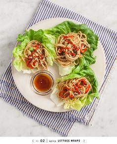 spicy peanut noodle lettuce wraps / loveandlemons.com