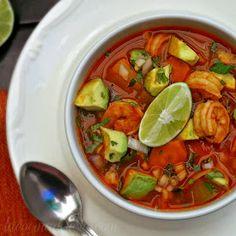 La Cocina de Leslie: Caldo de Camarón (Mexican Shrimp Soup) #WeekdaySupper