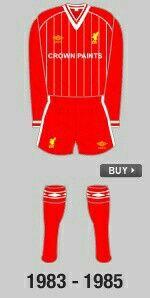 Liverpool FC Homme Retro 1984 Rome shirt LFC Officiel