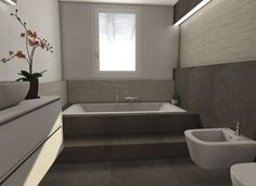 If you have a small bathroom in your home, don't be confuse to change to make it look larger. Not only small bathroom, but also the largest bathrooms have their problems and design flaws. Small Bathroom Renovations, Diy Bathroom Remodel, Shower Remodel, Small Bathrooms, Bathroom Layout, Bathroom Wall Decor, Modern Bathroom, Remodeling Mobile Homes, Home Remodeling
