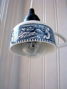 Tazas de porcelana como lamparas!