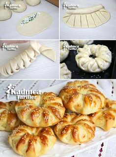 Savory filled decorative bread round