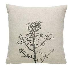 Maxemilia Arboretum / Winter Tree Cushion Cover / Natural ($77) ❤ liked on Polyvore featuring home, home decor, throw pillows and embroidered throw pillows
