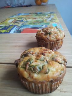Spinach salthy homemade muffins.