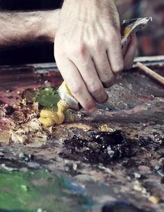 art studio, paint, and Painter image