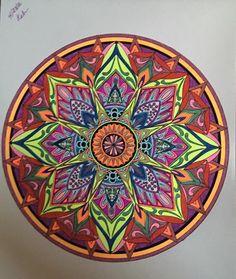 ColorIt Mandalas to Color Volume 1 Colorist: Karen Beavers #adultcoloring #coloringforadults #mandalas #mandala #coloringpages