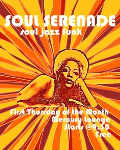 Jami Joelle Nielson made this poster last week for a local Soul/Funk night! Her first attempts at photoshop! (typically she is a painter/assemblage artist) Can you dig it?