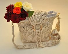 Modern macrame bags and accessories by ReadyYourKnot on Etsy