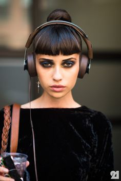 Makeup. Fringe. Headphones. All of it.