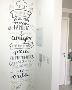 Kitchen wall paper design interiors New ideas Wall Design, House Design, Chalk Wall, Lettering Tutorial, Posca, Designer Wallpaper, Interior Design Living Room, Design Interiors, Paper Design