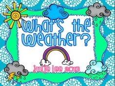 """This packet has everything you'll need for Math & Literacy Centers.  With over 20 centers your students will have so much fun with these weather themed centers!  Check out the previews samples of what's included.Twisted Twisters: 2 versions of build the sentence activitiesWindy Word Families-2 versions of this gameReading Rainbows-onsets and rimes with real and silly wordsW""""end""""y Sounds-ending sounds gameSunny Spelling-spelling cvc words gameBlustery Blends-blends gameStormy…"""