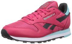 Reebok Classic Leather Suede Seasonal II, Damen Sneakers, Pink (Blazing Pink/Gravel/Crystal Blue/White), EU 36 (UK 3.5 / US 6)