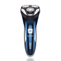 SweetLF Electric Shaver for Men Waterproof IPX7 Wet & Dry Rechargeable Rotary Razor with Pop-up Trimmer,Blue