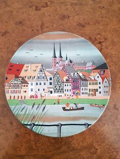 Excited to share the latest addition to my #etsy shop: Poole pottery decorative scene plate 436 scene VI. Poole pottery plate, Poole pottery decorative plate, Poole pottery Bavarian scene plate http://etsy.me/2EBskTe #housewares #blue #poolepotteryplate #poolesceneplat
