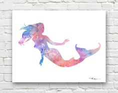 Mermaid art print Mermaids dancing to the by matouenpeluche