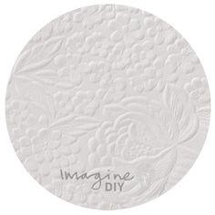 Floral embossed paper in matt white. DIY wedding stationery supplies