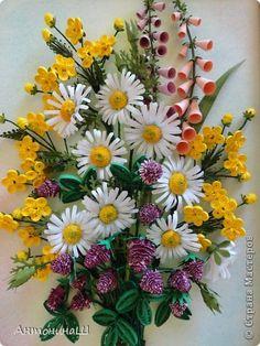 Muurschildering tekenen Quilling Paper Flowers Russische bandfoto 1