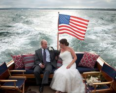 Enjoying an Offshore Ale onboard the Stardust after our wedding ceremony. Vineyard Haven Harbor, Martha's Vineyard