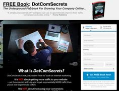 FREE BOOK - DotComSecrets, The Underground Playbook For Growing Your Company Online. Introducing DotComSecrets - The Underground Playbook For Growing Your Company Online. Affiliate Marketing, Social Media Marketing, Thing 1, The Secret Book, Starting Your Own Business, Free Books, Other People, How To Become, Knowledge