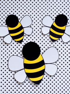 Bee Party PRINTABLE Bee Decals (INSTANT DOWNLOAD) by Love The Day