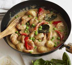 Thai prawn, potato  vegetable curry | BBC Good Food