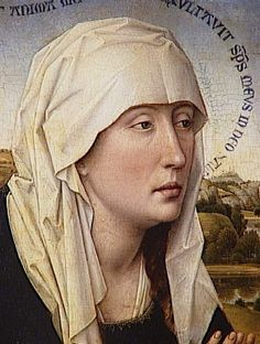 Rogier van der Weyden | Braque Family Triptych (central panel: Virgin Mary), c. 1450 Wood, 41 x 68 cm Musée du Louvre, Paris