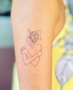 Dainty Tattoos, Unique Tattoos, Small Tattoos, Line Art Tattoos, Psychology Tattoo, Minimalist Tattoo Small, Minimal Tattoo, Health Tattoo, Self Love Tattoo