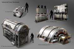 """Prop concepts for Insomniac's new game FUSE. I'f you've played a game like Fuse ,Gears of war, Last of us, etc... you'll find they use """"sticky cover"""". This means there is a standing and crouching c..."""