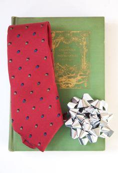 vintage Gift Set for Guys 1960's Egon von Furstenberg Silk Tie and 1917 Book The Orchestra & It's Instruments