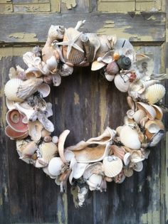 A family friend's Etsy site - what a pretty shell wreath!