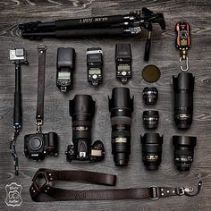 Awesome Gear collection  Imagine the possibilities! Photo by @photo.leather #mycamerabag #gear #cameras #cameras #nikon #photoglife #photographyislifee #nikon photography #nikonphotographers #d800 #d7100 #nikonlove #vscophile #vscogrid #goprohero4 #lenses #nikkor #pentax #vscogood #inspiration #creative #photogear