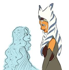 Padme and ahsoka Star Wars Rebels, Star Wars Clone Wars, Star Wars Art, Star Trek, Saga, Star Wars Personajes, Ahsoka Tano, Best Friendship, Love Stars