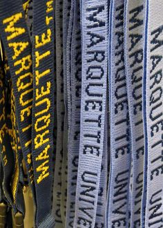 Marquette University lanyards from the Spirit Shop.