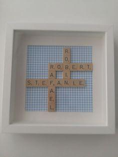DIY Geschenk zur Geburt aus Scrabble Buchstaben