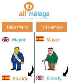 Don't be fooled by this false friend - the 'alcalde' might be offended if you call him 'mayor'! :) #SpanishSchool #LearnSpanish #FalseFriend