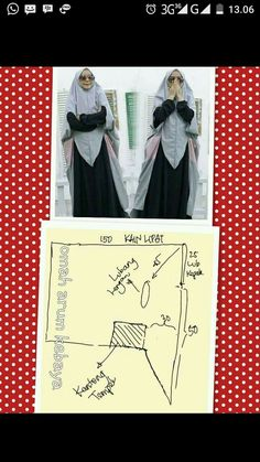 Diy Clothes Tutorial, Hijab Tutorial, Sewing Hacks, Sewing Tutorials, Sewing Projects, Sewing Tips, Embroidery Patterns, Sewing Patterns, Couture