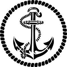 StencilPochoir ancre marine deco marine par DuMazelfrenchstencil