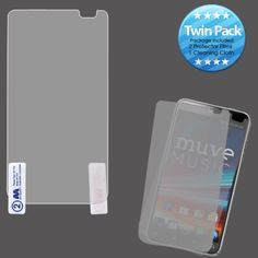 Insten 2 Piece Screen Protector Set for ZTE N8000 Engage LT #1158436