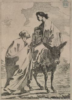 Dibujos y grabados de Goya: La huida a Egipto  http://blog.bne.es/?p=80 — en Biblioteca Nacional de España.