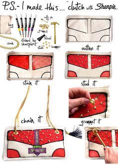clutch drawed with sharpie.. genius!