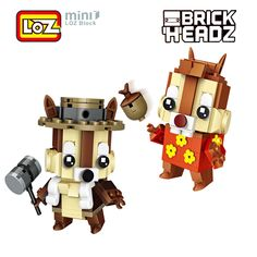 Cheap action figure, Buy Quality figure action directly from China action figure head Suppliers: LOZ Chip Dale Chipmunk Chip 'n Dale Rescue Rangers Mini Building Blocks Brick Head Action Figure For Age 6+ Offical Authorized