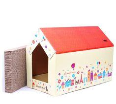 Cabin Cardboard Cat House