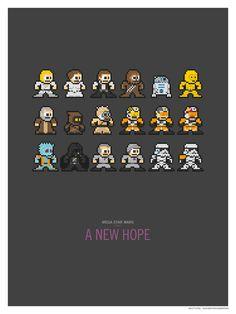 Mega Star Wars: Episode IV - A New Hope Art Print