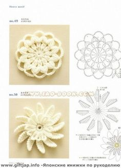 Crochet Flowers - Pattern by candy