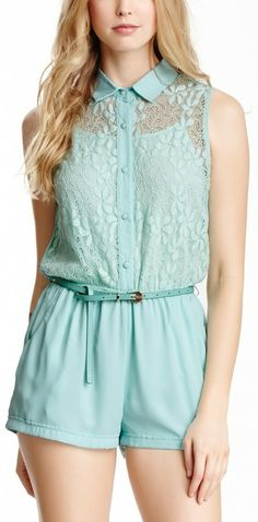 Solid Lace Romper God I love this