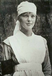 Amelia Earhart as a nurse during WWI.
