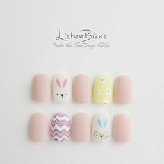 They allow to display a manicure impeccable during several weeks and to play with the form and the length of our nails. Trendy Nail Art, Cute Nail Art, Nail Art Diy, Diy Art, Korean Nails, Korean Nail Art, Nail Swag, Bunny Nails, American Nails