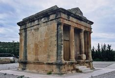 Roman mausoleum of Fabara - Wikipedia, the free encyclopedia Roman Empire, Archaeology, Rome, Gazebo, Religion, Outdoor Structures, Villa, Emilio, Architecture